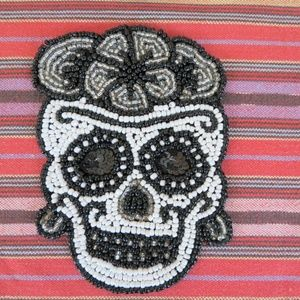no brand Holiday - Set of 4 Day Of The Dead Beaded Coasters